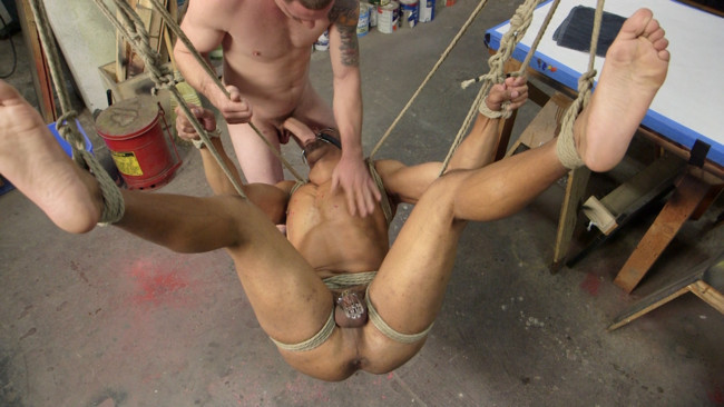 Bound Gods - Jay Rising - Troy Sparks - Zapped, Beaten & Fucked! - Lazy Shop Worker Takes His Punishment #10