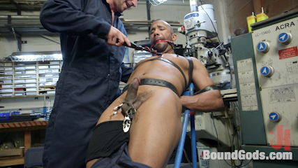 Zapped, Beaten & Fucked! – Lazy Shop Worker Takes His Punishment