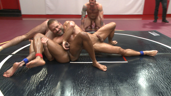 Naked Kombat - Dirk Caber - Billy Santoro - Hugh Hunter - Troy Sparks - Muscle on Muscle: Live Tag Team Oil Match Between 4 Ripped Hunks! #2