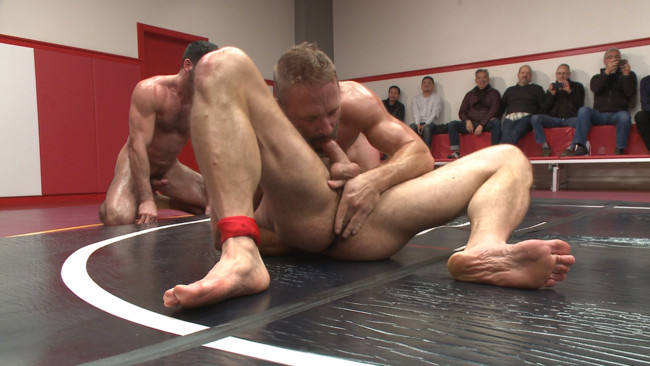 Naked Kombat - Dirk Caber - Billy Santoro - Hugh Hunter - Troy Sparks - Muscle on Muscle: Live Tag Team Oil Match Between 4 Ripped Hunks! #5