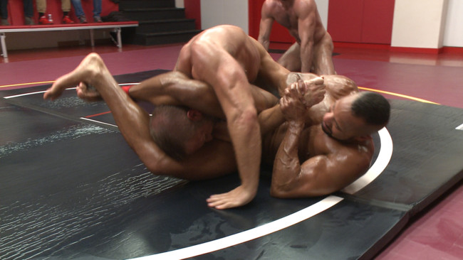 Naked Kombat - Dirk Caber - Billy Santoro - Hugh Hunter - Troy Sparks - Muscle on Muscle: Live Tag Team Oil Match Between 4 Ripped Hunks! #7