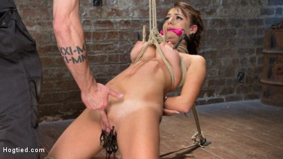 First timer gets brutally destroyed by extreme bondage and torment, then made to cum uncontrollably.