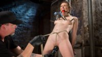 Casey is subjected to brutal predicament bondage, torment, and painful orgasms.