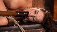 Rope bondage, nipple clamps, sensory deprivation, flogging, caning, bastinado, pussy fucking, and lots of orgasms!!