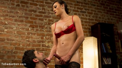 Venus Lux pops Jay Wimp's cherry with her raging hard cock!