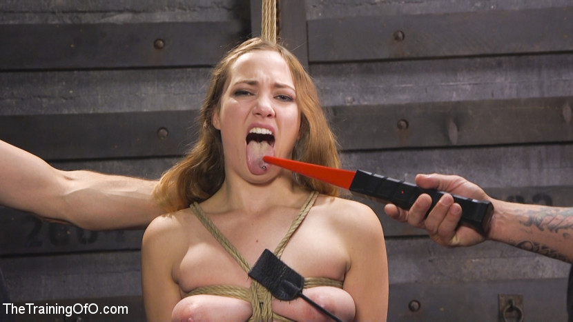 Squirting slave girl samantha hayes day two. Cute and masochistic trainee Samantha Hayes is trained by sadistic slave trainers to fuck and behave like a slave. Hardcore violent sex, bondage, messy sucks jobs, whips and squirting!