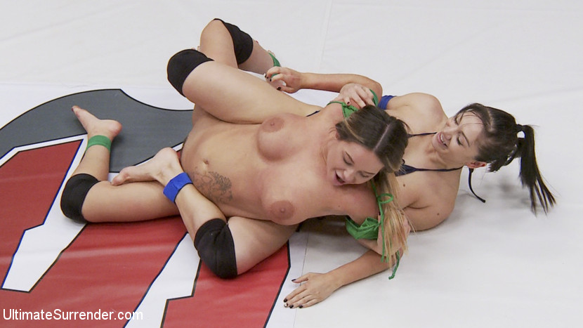 Blonde rookie is destroyed sexually on the mats. The Romanian
