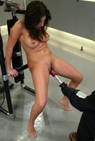 Sativa Rose cums repeatedly with the machines working her pussy.