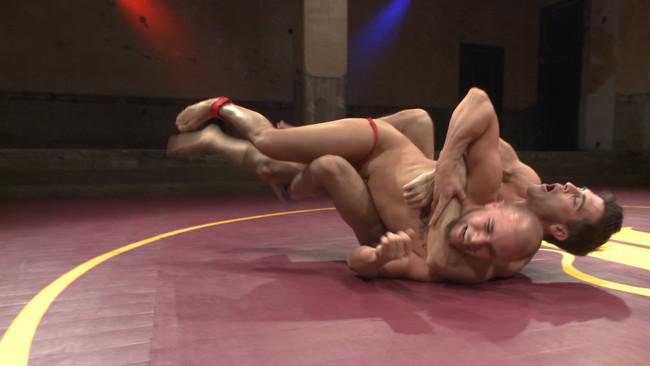 Naked Kombat - Eli Hunter - Lance Hart - Lance Hart Tussles with Eli Hunter #1