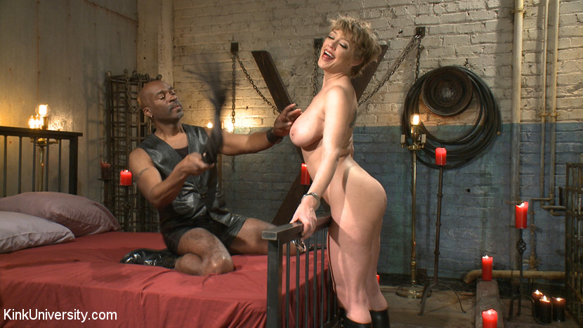 Sexual flogging. Learn how to use flogging on a your partner's natural tits and genitals for intense sensual stimulation, whether for heightened delight or agonizing punishment. Master Hines and Darling demonstrate dozens of techniques and refined skills for flogging a person's tits, pussy, asshole, and clit, and even penetrating them with a flogger. To learn more voluminous basic flogging techniques, see Flogging 101 featuring Cleo Dubois here on Kink University.