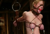 Cyd black binds and teases bondage model Darling