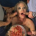 [HardcoreGangbang] Creaming Pie: Mrs. S gets her MILF holes banged by her son's friends!