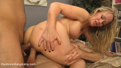 Simone Sonay gets gangbanged and has her son's friends cream pie her MILF hole!!!