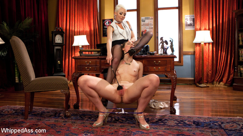 Lesbian professor seduces and dominates hot coed. When hot university student Lilith Luxe visits Professor Lorelei Lee's office hours, she learns a lesson that will change her forever. Seduced by Lorelei's beauty and intellect, Lilith submits to spanking, finger banging, fisting, inversion, suspension, vagina licking, flogging, dick-on-a-stick, vagina and anus strap-on fucking, and a fist and strap-on DP!
