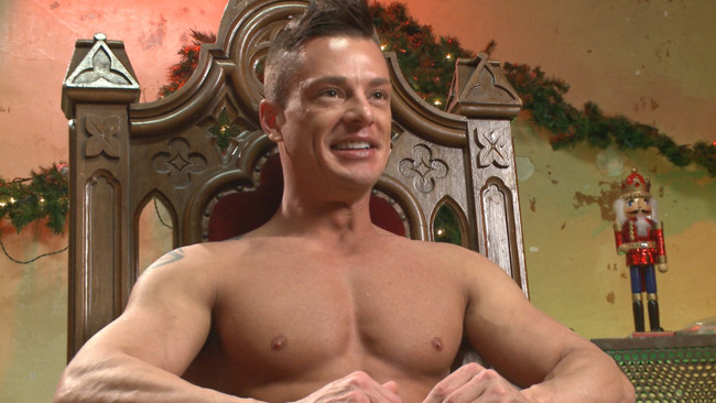 Bound in Public - Rex Cameron - Vinnie Stefano - Connor Maguire - Muscled submissive whored out by santa for the holidays #2