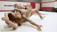 This is 100% real competitive erotic wrestling. Winner Destroys the loser and utterly humiliates her in the prize round