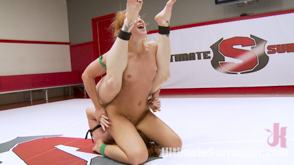 Cheyenne Jewel and Bella Rossi fight 100% competitive erotic wrestling