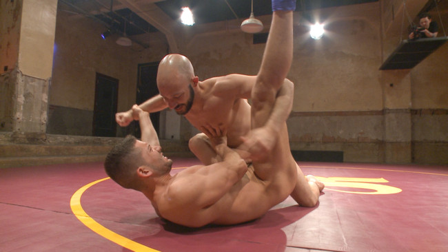 Naked Kombat - Dylan Strokes - Kyle Kash - Dylan Strokes v Kyle Kash: Battle of the Fat Cocks #2