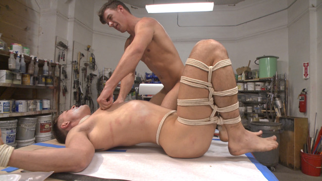 Bound Gods - JJ Knight - Tyler Rush - Fucking on the job: Stud with a fat cock dominates his creepy coworker #14