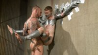 His new master loves using duct tape to immobilize his subs and fuck them