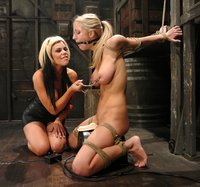 Busty blondes going at it in this erotic lesbian BDSM scene!