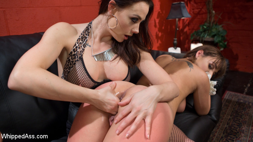 The fan girl sapphic slut bound slap and strapon have sex. Hot