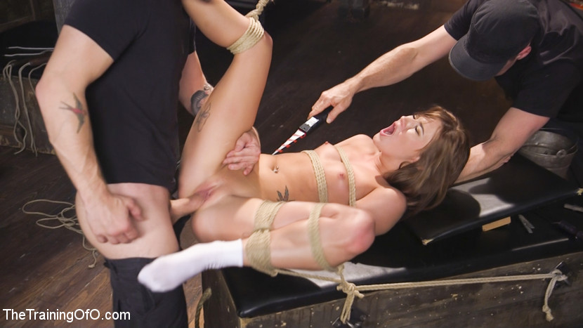 videos tied up babe suffers anal pain from bbc