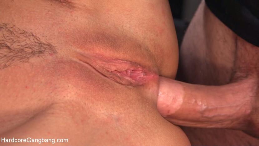 Nympho milf begs for ultimate authentic rough experience. Curvaceous nympho milf Syren de Mer begs for a rough takedown, bondage, and huge thick cocks in all of her holes. She's after the authentic experience. She wants it bad. And these boys are gonna make sure she gets what's orgasm to her! Violently woken up in the night by five dark mysterious figures, Syren is bagged in clear plastic trash bags like garbage, barely able to cock sucking in air as she's tossed into the back of a truck and carted off into a dingy, forgotten basement. There the boys tie her up, choking her as she drools onto her boobs and gags on the cocks pummeling the back of her throat. They fill her up, stuffing both her holes with rough double penetration, ripping orgasms from her dripping cunt, dripping spit, choked by her hair, and begging for more before the boys leave her butthole gaping and her face covered in filthy cum.