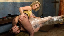 Pretty-boy-slave-humiliated-and-pegged-by-Mistress-Cherry-Torn