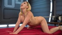 Hot blonde is machine fucked into oblivion!!