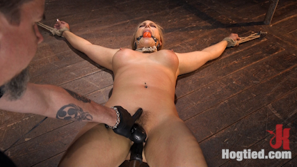 Big Tit Blonde MILF Bound, Tormented, and Made to Cum!!