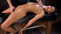 Sexy Ebony Bondage Slut is Helpless in Strict Bondage and suffers to earn orgasms!!