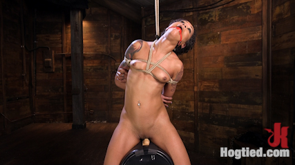 Skin Diamond is Tormented in Brutal Bondage and Made to Cum