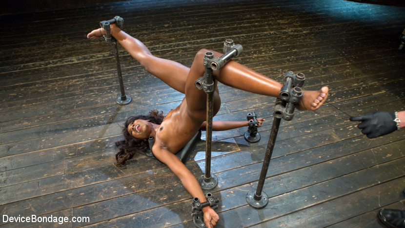 Tear her apart. After a long wait we finally have Ana Foxxx back in our dungeon. Her perfect body is contorted and stretched into menacing positions to ensure that her suffering is monumental. She is completely helpless and unable to stop the brutal tortured that is sadistically administered to her. She is overwhelmed with pain and domination but then rewarded with earth shattering orgasms.