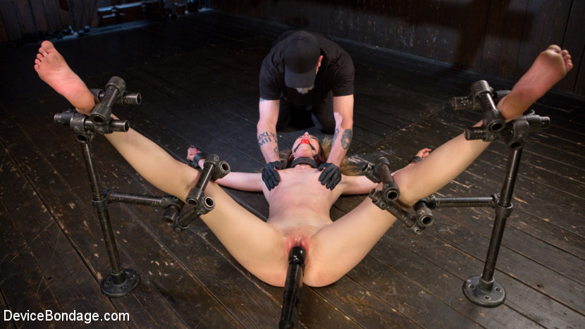 Dominatrix is destroyed with inhuman domination in strict bondage. Mona started her Kink career here at Device Bondage, then went on to be a fierce Fem Domme. She never forgot the inner pain slut and always let's her out to play from time to time. When the pain slut begs to be punish she comes to the one place she can rest assured that she can get her fix. The Pope unleashes the most sadistic punishment that she can take, then makes her beg for more.