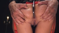 Big tit latex slave submits to Steve Holmes' Big Dick with rough anal sex, hard bondage and BDSM.