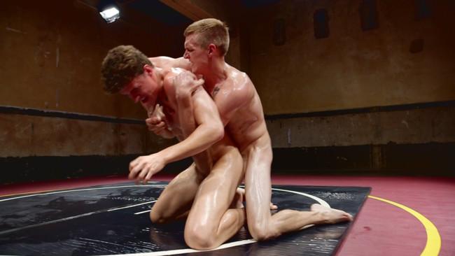 Naked Kombat - Zane Anders - JJ Knight - Southern Boys with Giant Cocks Wrasslin' in Oil: JJ Knight vs Zane Anders #10