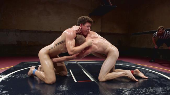 Naked Kombat - Zane Anders - JJ Knight - Southern Boys with Giant Cocks Wrasslin' in Oil: JJ Knight vs Zane Anders #12