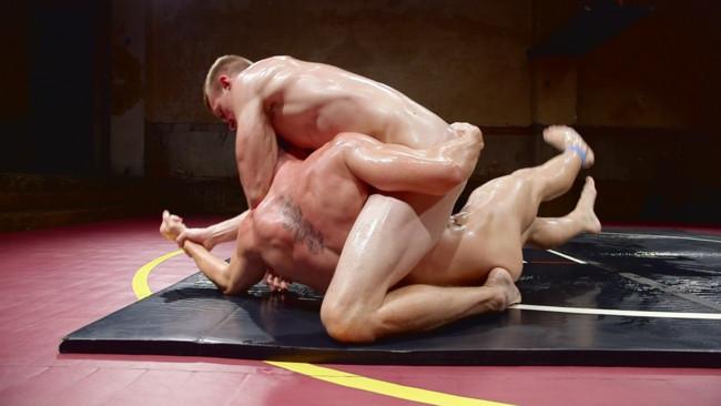 Naked Kombat - Zane Anders - JJ Knight - Southern Boys with Giant Cocks Wrasslin' in Oil: JJ Knight vs Zane Anders #3