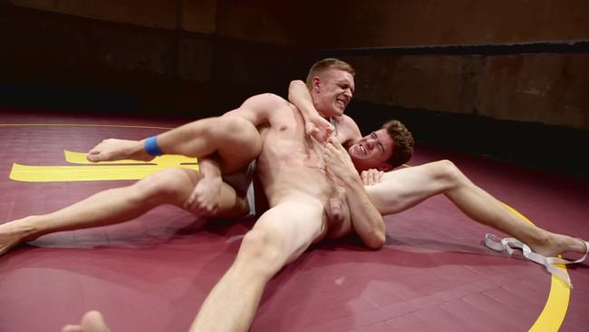 Naked Kombat - Zane Anders - JJ Knight - Southern Boys with Giant Cocks Wrasslin' in Oil: JJ Knight vs Zane Anders #4
