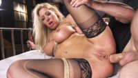 Big tit blonde Lexi Lowe is Bill Bailey's anal hostage. Brutal anal sex in tight bondage, gags, fisting and rough sex.