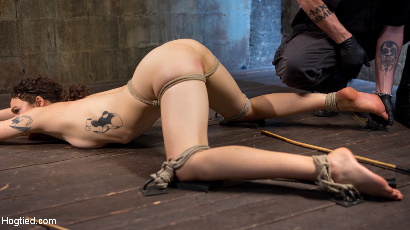 First timer in extreme bondage with inhuman molest and made to ejaculate. Lilith is new and learning what she likes and dislikes. She wants to be pushed to see what her limits are, so I push this slut as violent as I can. The day begins with extreme pain to se what this little slut is made of. Her nipples and cunt lips are clamped and then stretched. The impact ranges from flogging to the deep thud of punching. Her cunt is have sex dry and then we move on to the next position. Her butt is up and every sensitive spot is caned on her body before her cunt is fingered banged into screaming orgasms. The suspension is going to test her ability to get through grueling bondage. She hangs from a single point that is tethered around her waist, but to really tormented her the final scene will test everything that makes her thinks she is the strong woman she claims to be.