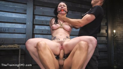 All natural Veruca James balances pleasure and pain while Xander Corvus dishes out hardcore anal sex and tight bondage