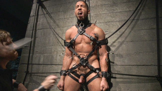 Bound Gods - Sebastian Keys - Mike Maverick - Mr Keys beats and fucks tough new slave #3