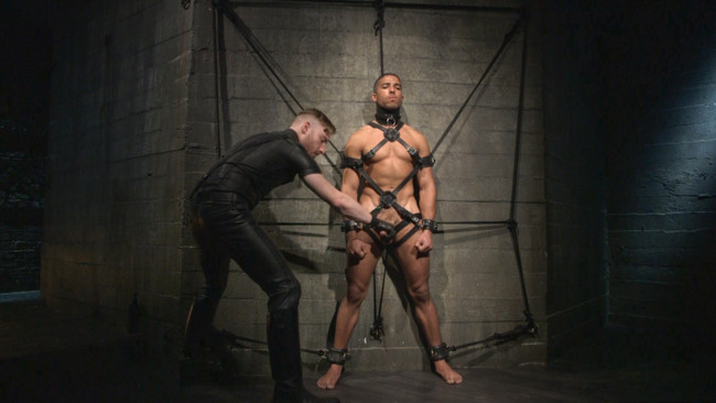 Bound Gods - Sebastian Keys - Mike Maverick - Mr Keys beats and fucks tough new slave #4
