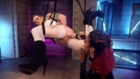 Daisy Ducati electro dominates hot chick with suspension bondage, facesitting, fisting and tons of orgasms!!