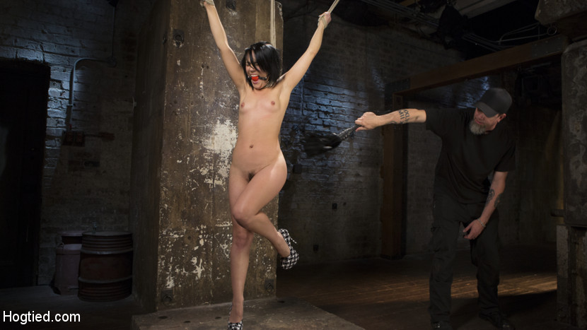 Feisty latina is captured in grueling bondage torment and bottom