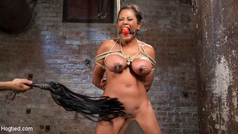 Large breasts bound torture anatomy and kitty and face have