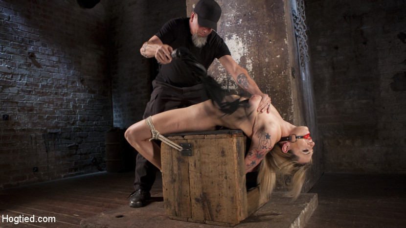 Dahlia sky submits to punish bondage and tortured. Behind Dahlia Sky's good smile is a dirty little bitch that loves having her limits tested. She's tied up and tied down in punish bondage, and made to endure a violent fuck in all her holes until she cums like the masochistic prostitute she is.