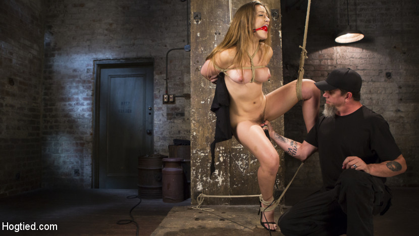 Dani daniels submits in brutal bondage. Dani is drop dead have sexual intercourse graceful and loves to be tortureded in bondage. She craves the feeling of so much pain that she is left crying. She also knows exactly where to go and who to see to get what she wants. I put her amazing body on display with multiple bondage positions, tortured her to tears, and then make her slutty cunt orgasm uncontrollably.
